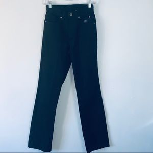 Harley Davidson size 4 long black bootcut jeans